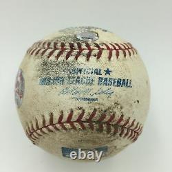 Rafael Palmeiro Signed Game Used Texas Record Breaking Home Run #25 Baseball