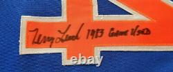 Rare 1983 Blue Alternate Terry Leach New York Mets Game Used Worn Signed Jersey