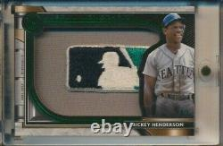 Rickey Henderson Game Used Jersey LOGOMAN 1/1 PATCH EMERALD 2021 Topps Museum