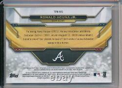 Ronald Acuna Jr Braves 2019 Topps Triple Threads Game Used Relic Auto 3/3