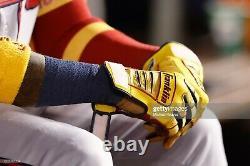 Ronald Acuna MLB Signed LOA Game Used Auto Batting Gloves 2021 Atlanta Braves