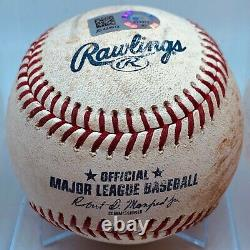 Ronald Acuna Mlb Game Used Baseball Braves 9/18/18 Final Rookie Hr #26 Ab Nl Roy