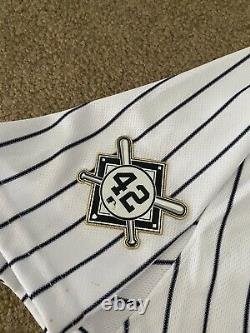 Rougned Odor 2021 Game Used & Worn NY Yankees Jersey Jackie Robinson Day MLB