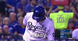 Salvador Perez MLB Holo Game Used Batting Helmet 2017 Kansas City Royals
