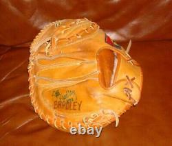 Scott Bradley game used signed glove mitt baseball Mizuno CE-5H Mariners Yankees