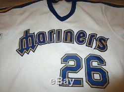 Seattle Mariners 1983 MLB Baseball Game Used Worn Rawlings Jersey 40