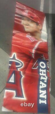 Shohei Ohtani Anaheim Stadium Game Used 2018 Display Vinyl Banner Rare Angels