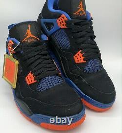 Size 11 -Air Jordan 4 Retro Cavs 2012 Black Game Royal Orange 308497-027 Used