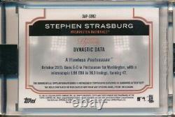 Stephen Strasburg Auto Game Used Jersey Relic Patch 9/10 2020 Topps Dynasty Nats