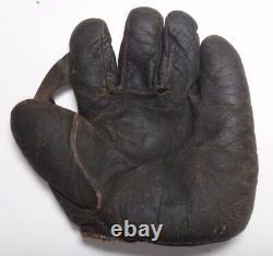 Super Rare Vic Aldridge Game Used 1925 World Series Baseball Glove