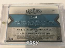 TY COBB 2012 Topps Triple Threads Legends Game Used Bat GOLD Serial #3/3