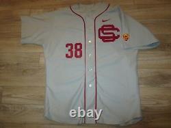 USC Trojans #38 Baseball Team NCAA Game Worn Used Nike PAC 12 Jersey 50