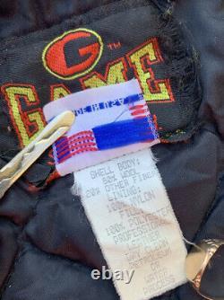 Vtg Game Sportswear Ltd Letterman Varsity Jacket USA MADE Size 40 Leather / Wool
