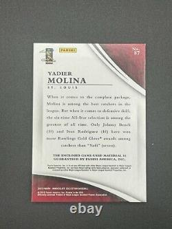Yadier Molina GAME USED LOGO Patch 2015 Immaculate JUMBO Patch 2/2 Cardinals Sp