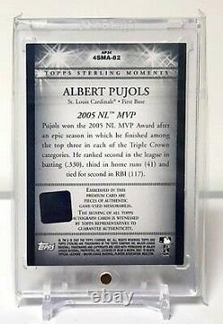 1 / 1 Albert Pujols 2007 Topps Sterling 4 Pieces Jeu Utilisé Auto Autograph 10/10 Sp