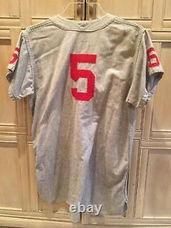 1940-50s Vintage Fresno State Bulldogs Jeu Utilisé Flanelle Baseball Jersey # 11