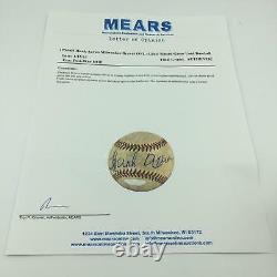 1950 Hank Aaron A Signé Le Jeu Utilisé Ligue Nationale De Baseball Mears Coa Et Steiner