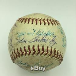1958 Chicago Cubs Game Team Signature Utilisé Nl Baseball Ernie Banks Psa Adn Coa