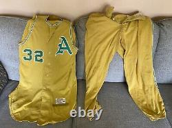 1963 Kansas City Athletics Kc Comme Jeu Utilisé Worn Jersey & Pantalons