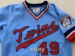 1979 Mike Marshall Jeu Utilisé Worn Road Minnesota Twins Jersey Nom Et # Changement