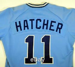 1985-87 Greenville Braves Jon Hatcher #11 Jeu Blue Jersey D'occasion Dp06081