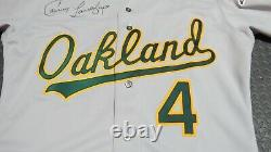 1988 Carney Lansford Oakland Athletics Game Used Worn Baseball Jersey A's Signed