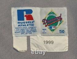 1999 Bj Ryan Baltimore Orioles Jeu Utilisé Maillot De Route Cal Ripken Sr. Mem. Patch
