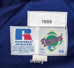 1999 John Shelby La Dodgers Jeu Utilisé Maillot Bleu -rare Newcombe Patch Auto