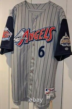 2000 Matt Walbeck Anaheim Angels Jeu Utilisé / Porté Patch 40e Anniversaire