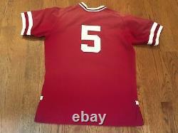 2001-02 Stanford Cardinal Jeu Utilisé Baseball Jersey Worn # 5 Sam Fuld Équipe Israël