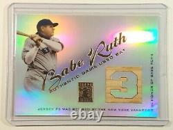 2001 Topps Babe Ruth Jeu Utilisé Bat Relic Rare # Rb Br