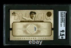 2001 Ud Sp Legendary Cuts Joe Dimaggio Jeu Used Jersey Relic 51/75 Sgc 9.5