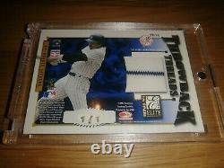 2002 Donruss Elite Babe Ruth Jeu Porté Jersey 1/1 Double Masterpiece Jackson