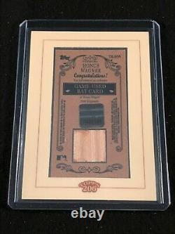 2002 Wagner 206 Honus Topps Authentique A Utilisé La Carte Bat Rare