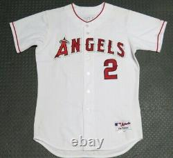 2003 Adam Kennedy Los Angeles Angels Jeu Utilisé Usé Mlb Baseball Jersey! Anaheim