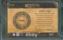 2004 Playoff Prime Cuts Satchel Paige Jeu Utilisé Jersey Relic #13/25 Braves Tl-88