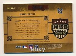 2004 Prime Cuts Babe Ruth Jeu Utilisé Jersey Mlb Icons #35/50