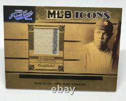 2004 Prime Cuts Ruth Jeu Utilisé Babe Mlb Jersey Icons # 12/25 Yankees Hof