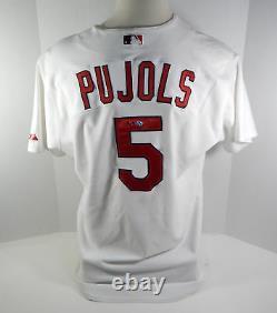 2004 St. Louis Cardinals Albert Pujols # 5 Jeu Utilisé Blanc Jersey