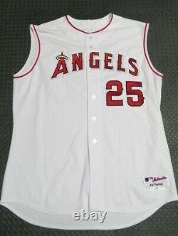 2004 Troy Glaus Los Angeles Angels Jeu Utilisé Usé Mlb Baseball Jersey! Anaheim