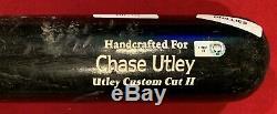 2008 Chase Utley Des Phillies De Philadelphie Jeu D'occasion Photo Assorti Batte De Baseball