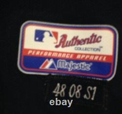 2008 Game Worn Utilisé Terry Pendleton Atlanta Braves Navy Alt Jersey 48