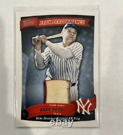 2010 Topps Peak Performance Relic Babe Ruth Rare Pinstripe Game-used Pants Ssp