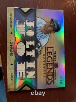 2012 Triple Threads Joe Dimaggio Jeu D'occasion Bat Relic /36 Envoyer Des Offres