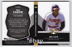 2012 Triple Threads Rod Carew Auto Game Used Letter Patch Booklet #1/3 Anges