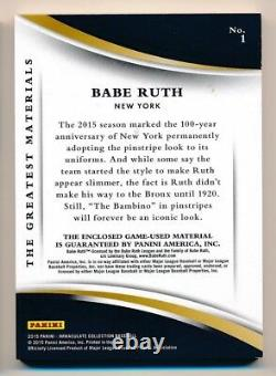 2015 Immaculate Babe Ruth Jeu Used Material Relic #4/5