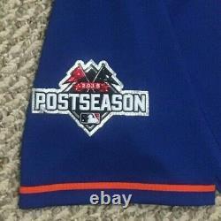 2015 Post-saison Torres Taille 42 #72 Jeu Des Mets De New York Utilisé Maillot Home Blue Mlb