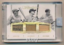 2016 Flawless Babe Ruth Lou Gehrig Meusel Jeu Utilisé Jersey Stiching #/10