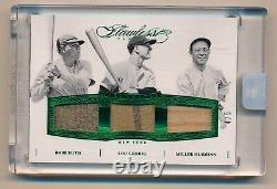 2016 Flawless Ruth Babe Gehrig Huggins Jeu Lou Utilisé Pinstripe Jersey # 4/5
