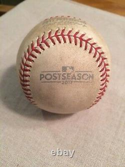 2017 Champion Houston Astros Alcs Jeu De Balle Usagé 5 @ Yankee Stadium